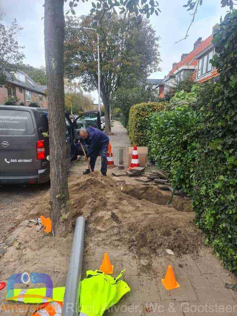 Graven riool Amersfoort